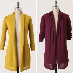 Anthropologie Long Open Cardigan